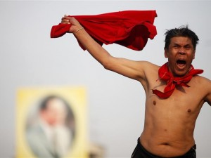 Red shirt protester, January 2011