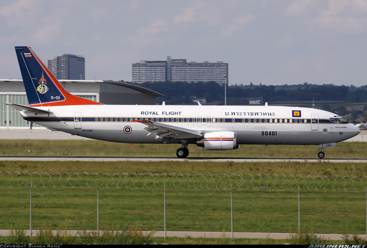 One of Vajiralongkorn's 737s
